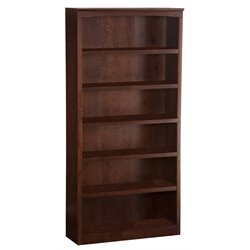 Atlantic Furniture 72 Inch Bookcase in Antique Walnut