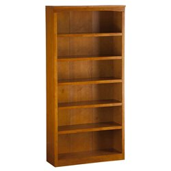 Atlantic Furniture 72 Inch Bookcase in Caramel Latte
