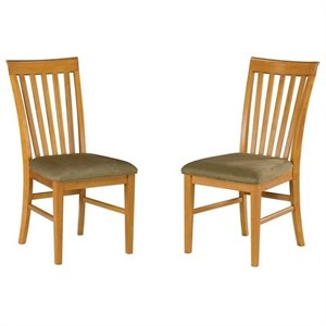 Atlantic Furniture Mission  Dining Chair in Caramel Latte (Set of 2)
