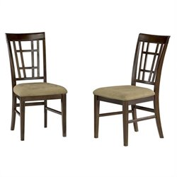 Atlantic Furniture Montego Bay  Dining Chair in Antique Walnut (Set of 2)