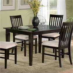 Atlantic Furniture Deco Dining Table in Espresso