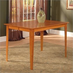 Atlantic Furniture Montreal Dining Table in Caramel Latte - 39 x 39 Solid Table