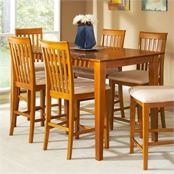 Atlantic Furniture Shaker Counter Height Pub Dining Table in Caramel Latte