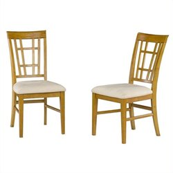 Atlantic Furniture Montego Bay Oatmeal Fabric  Dining Chair (Set of 2)