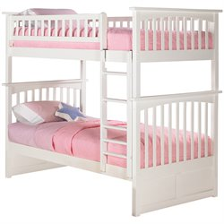 Atlantic Furniture Columbia Bunk Bed Twin over Twin in White