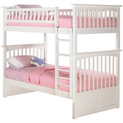 Atlantic Furniture Columbia Bunk Bed in White