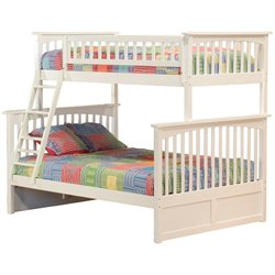 Atlantic Furniture Columbia Bunk Bed Twin over Full in White