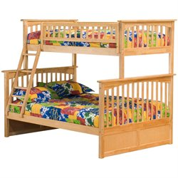 Atlantic Furniture Columbia Bunk Bed Twin over Full in Natural