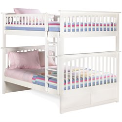 Atlantic Furniture Columbia Bunk Bed Full over Full in White