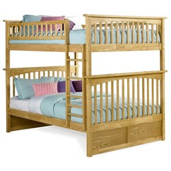 Atlantic Furniture Columbia Bunk Bed Full over Full in Natural