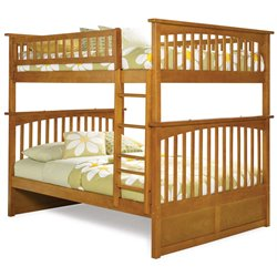 Atlantic Furniture Columbia Bunk Bed Full over Full in Caramel Latte