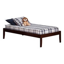 Atlantic Furniture Concord Bed with Open Foot Rail in Walnut Finish - Twin