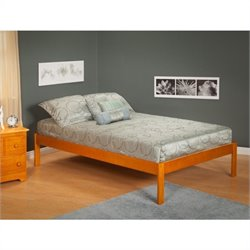 Atlantic Furniture Concord Bed with Open Foot Rail in Caramel Latte - Twin