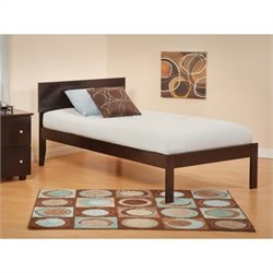 Atlantic Furniture Orlando Bed with Open Foot Rail in Espresso Finish - Twin Size