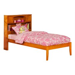 Atlantic Furniture Newport Platform Bed in Caramel Latte