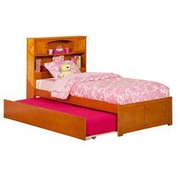 Atlantic Furniture Newport Urban Trundle Platform Bed in Caramel Latte