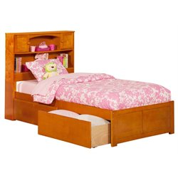 Atlantic Furniture Newport Urban Storage Platform Bed in Caramel Latte
