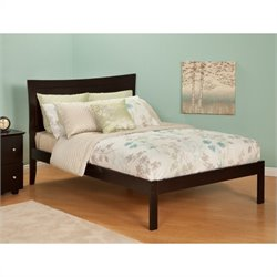 Atlantic Furniture Metro Bed with Open Foot Rail in Espresso - Full Size