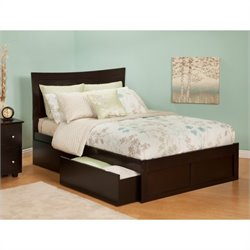 Atlantic Furniture Metro Bed with Drawers in Espresso - Full Size
