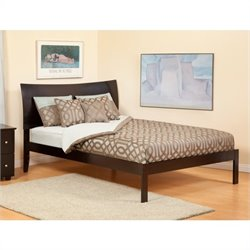 Atlantic Furniture Soho Bed with Open Foot Rail in Espresso - Twin Size