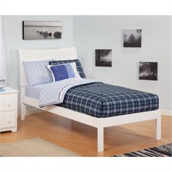 Atlantic Furniture Soho Bed with Open Foot Rail in White - Full Size