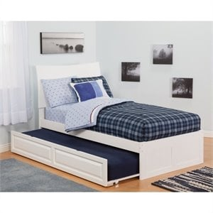 Atlantic Furniture Soho Bed with Urban Trundle in White