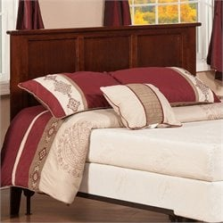 Atlantic Furniture Madison Panel Headboard in Brown - King