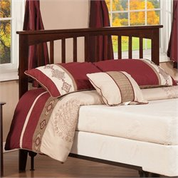 Atlantic Furniture Mission Slat Headboard in Brown - King