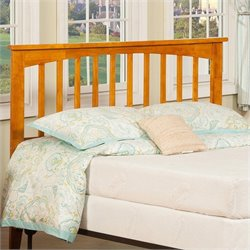 Atlantic Furniture Mission Slat Headboard in light Brown - Full Size