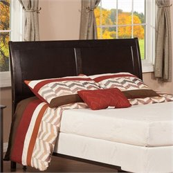 Atlantic Furniture Portland Sleigh Headboard in Espresso