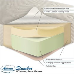 Atlantic Furniture Atlantic Slumber Memory Foam Mattress