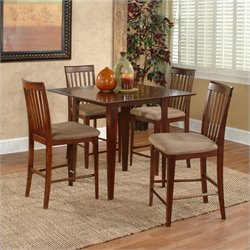 Atlantic Furniture Montreal 5 Piece Pub Height Dining Set - Antique Walnut