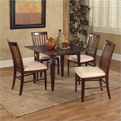 Atlantic Furniture Montreal 5 Piece Dining Set - Antique Walnut