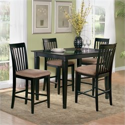 Atlantic Furniture Montego Bay 5 Piece Pub Height Dining Set - Caramel Latte