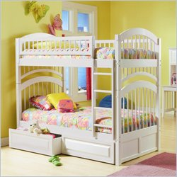 Atlantic Furniture Windsor Bunk Bed Twin Over Twin in White