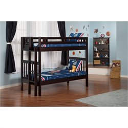 Atlantic Furniture Cascade Bunk Bed in Espresso
