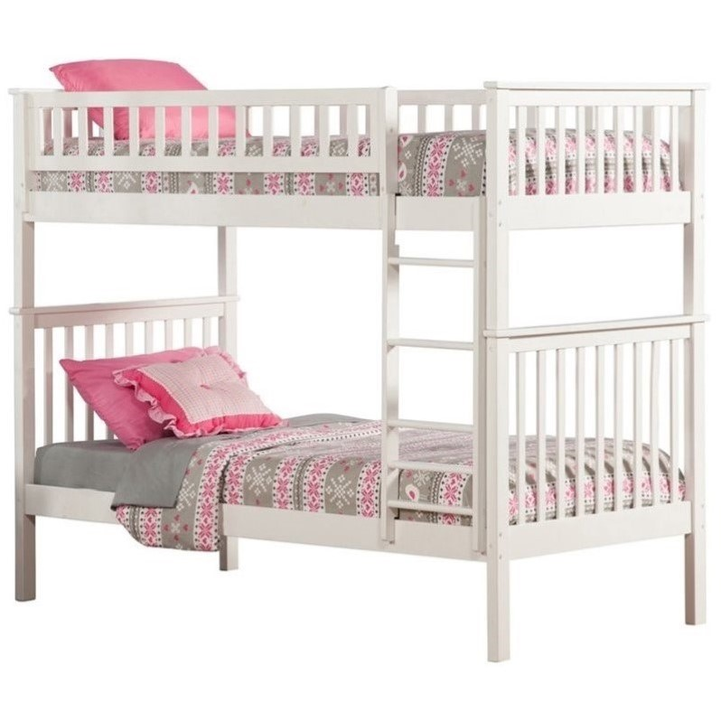 Atlantic Furniture Woodland Bunkbed in White