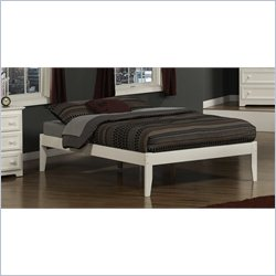 Atlantic Furniture Concord Platform Bed in a White - Full