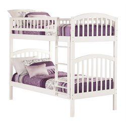 Atlantic Furniture Richland Bunk Twin over Twin in White
