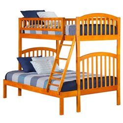 Atlantic Furniture Richland Bunk Bed in Caramel Latte