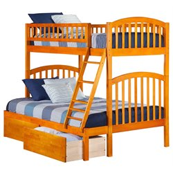 Atlantic Furniture Richland Urban Storage Bunk Bed in Caramel Latte