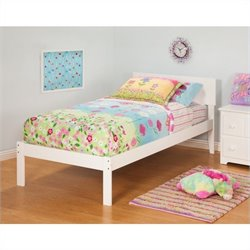 Atlantic Furniture Orlando Bed with Trundle in White Finish