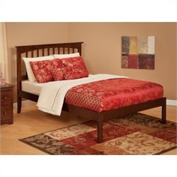 Atlantic Furniture Mission Bed with Trundle in Antique Walnut
