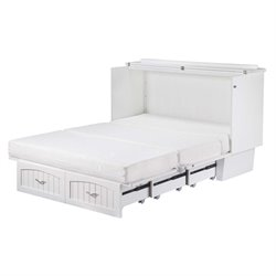 Atlantic Furniture Nantucket Murphy Bed Chest in White