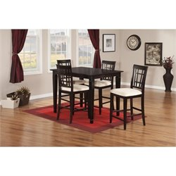 Atlantic Furniture Montego Bay 5 Piece Pub Set in Espresso