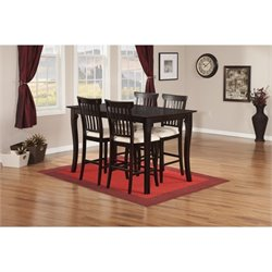 Atlantic Furniture Venetian 5 Piece Pub Set in Espresso