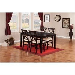 Atlantic Furniture Shaker 5 Piece Dining Set in Espresso