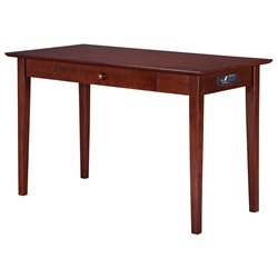 Atlantic Furniture Harvard Media Writing Desk in Antique Walnut