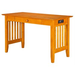 Atlantic Furniture Harvard Media Writing Desk in Caramel Latte