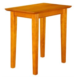 Atlantic Furniture Anderson Rectangular End Table in Caramel Latte